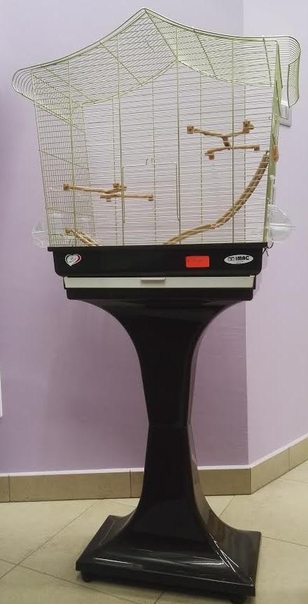 Gabbia Imac SOFIA per pappagallini con piedistallo marrone - Il Pellicano negozio animali Piossasco