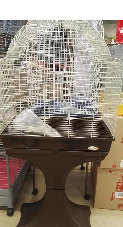 Gabbia pappagallini Spyros 62 con piedistallo Il Pellicano negozio animali Piossasco